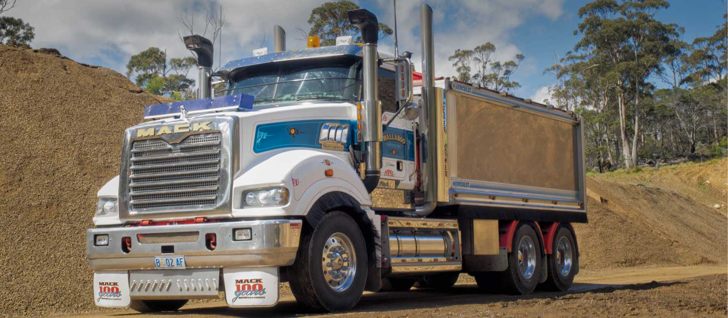 one of wallaroo's gravel / landscaping supplies trucks